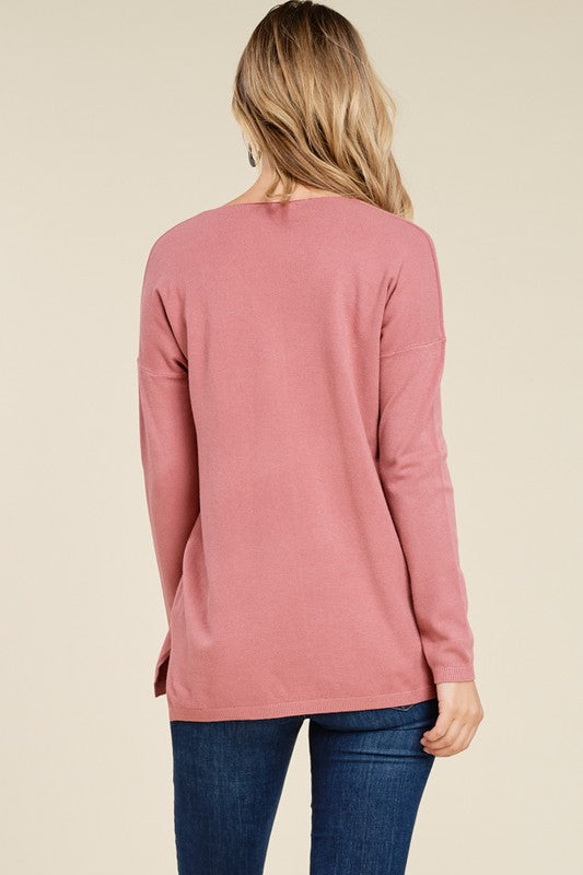 Pastel Seam Front Sweaters, 3 Colors