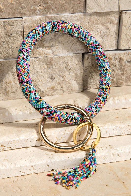Beaded Key Chain Bangles
