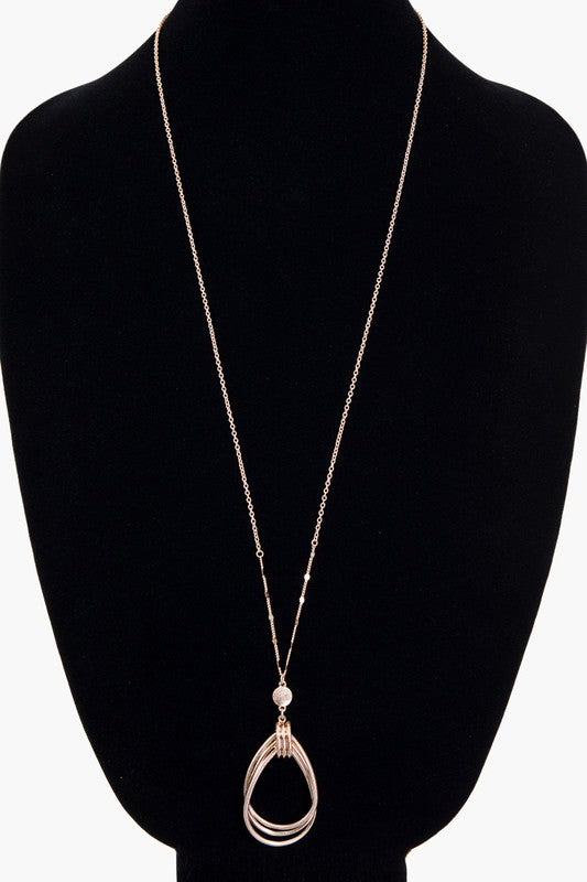 Triple Layer Drop Necklaces