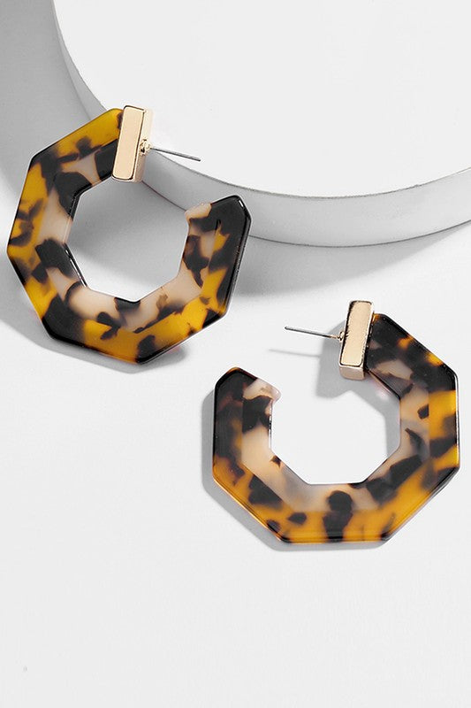 Tortoise Resin Hoops