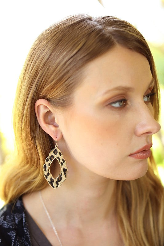 Leopard Moroccan Earrings - 3 Colors