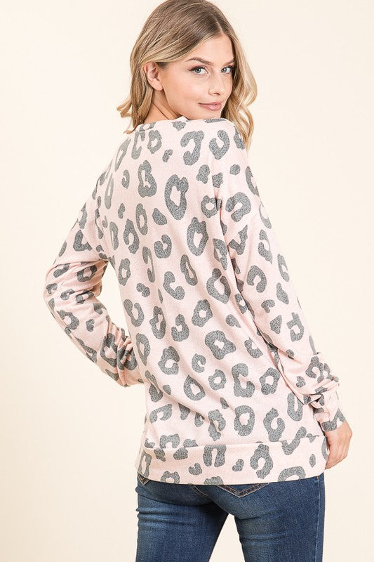 Blush Leopard Tunic