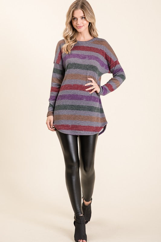 Charcoal Stripe Tunic
