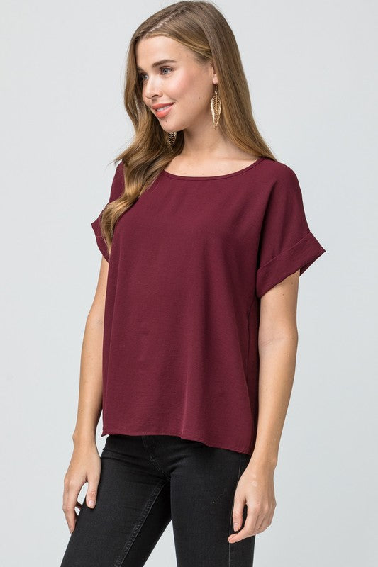 Crinkly Top, Short Sleeve