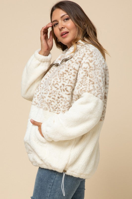 Leopard Fleece Sweater