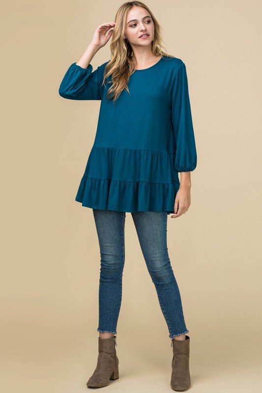 Tiered Knit Tops, 2 Colors