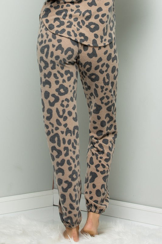 Soft Leopard Joggers