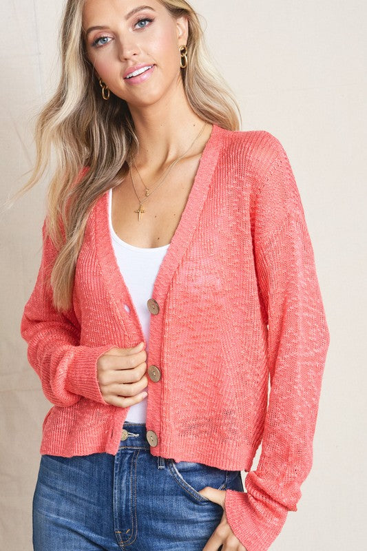 Button Cardigan - 2 Colors