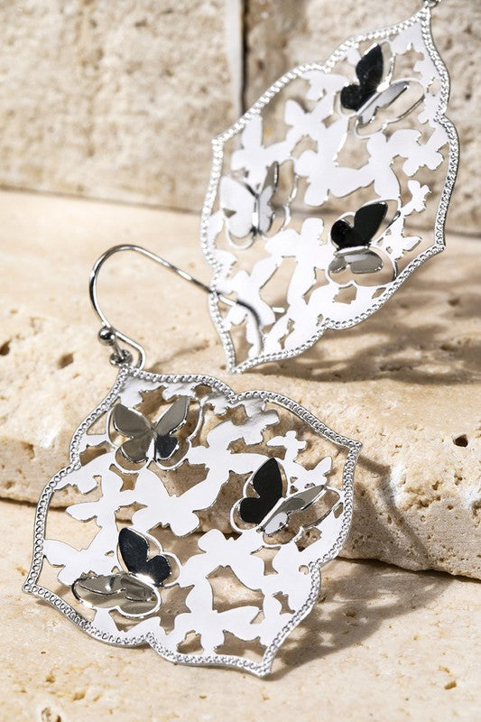 Butterfly Filigree Earrings