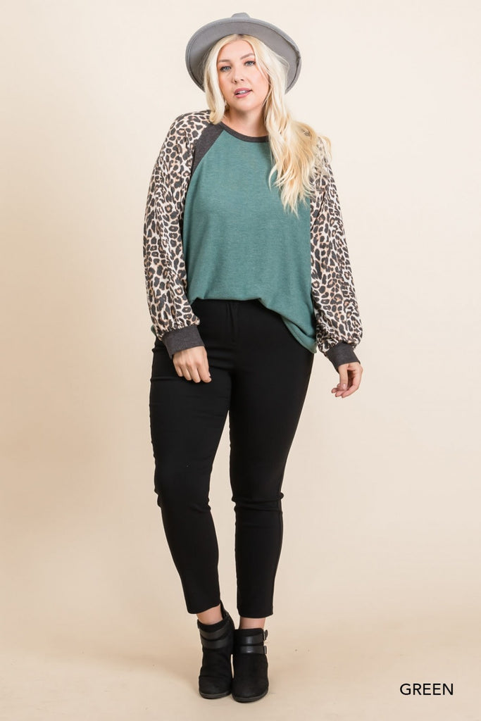Emerald City Leopard Top