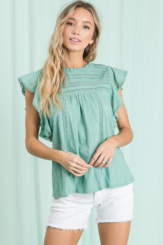 Ms. Fringe Top - 2 colors