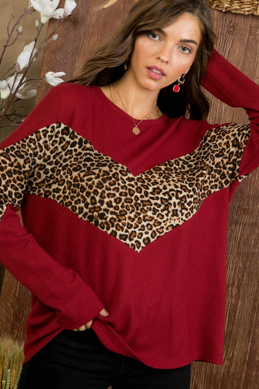 Leopard Chevron Top
