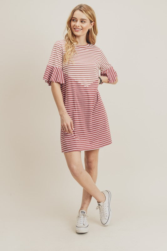 Blush Chevron Dress