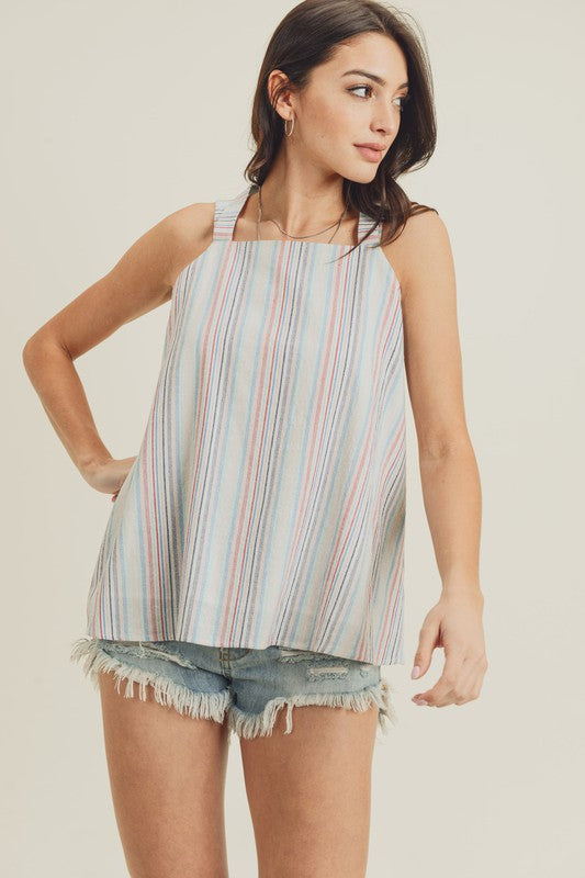 Rainbow Striped Halter