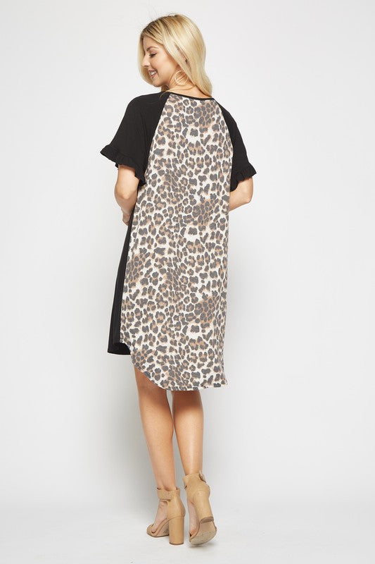 Leopard Back Dress