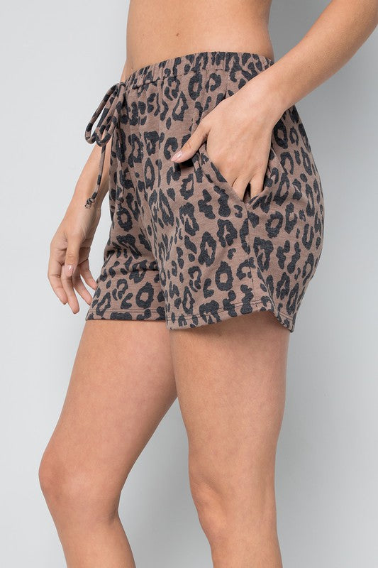 Lounge Leopard Shorts and Tops