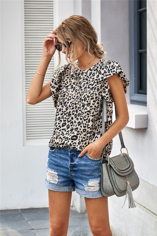 Ruffled Pocket Top