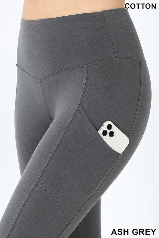 Cotton Leggings, with Side Pockets