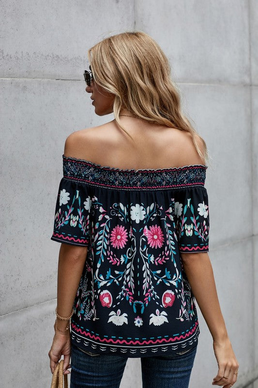 Bohemian Off the Shoulder Top