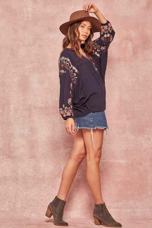 Cassandra Embroidered Top