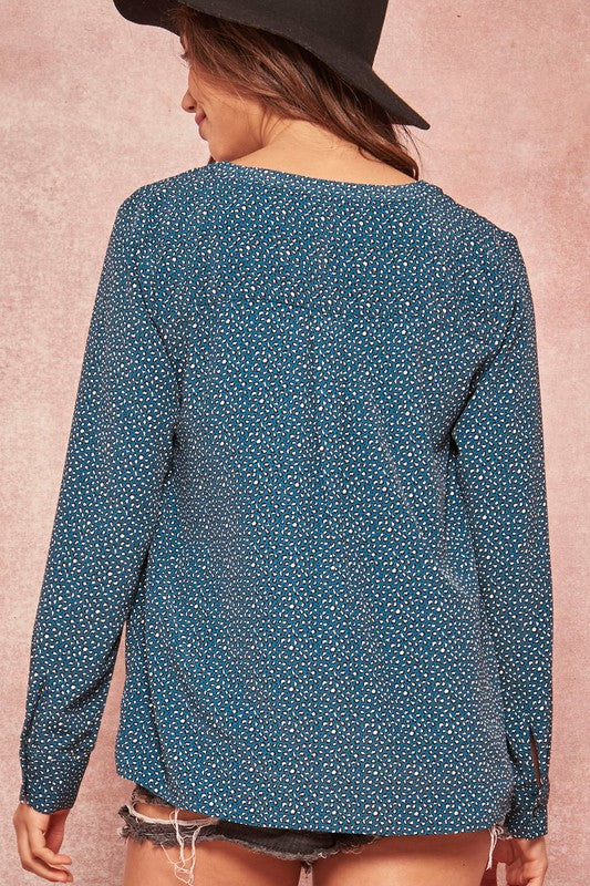 Teal Mini Leo Top