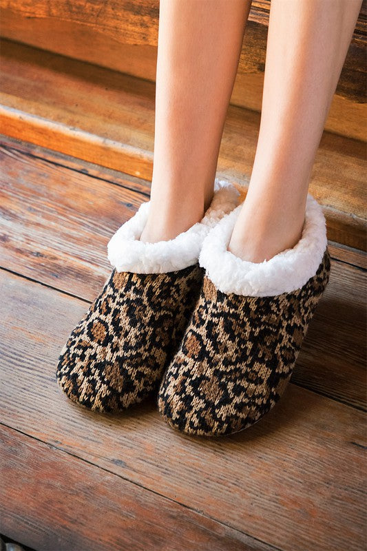 Leopard Print Slippers