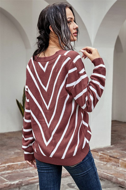 Chevron Cardigan