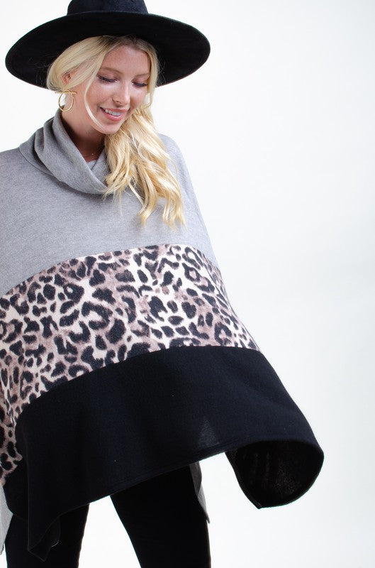 Ivory Leopard Poncho