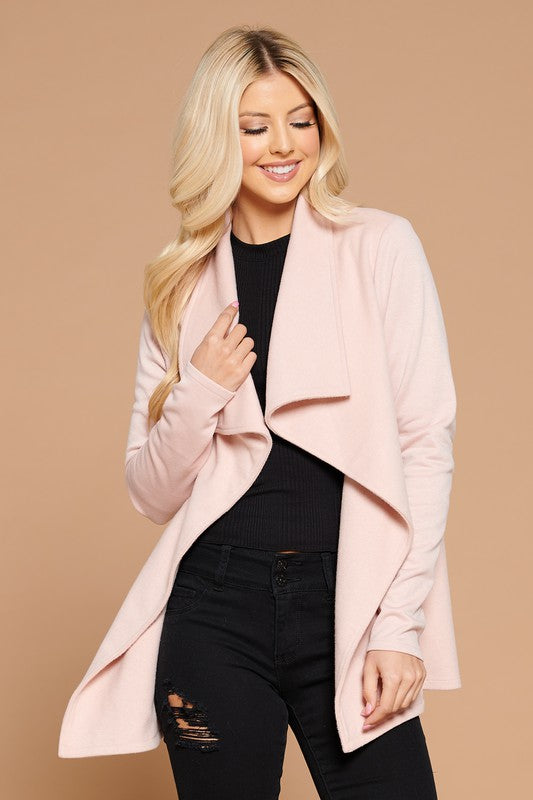 Blush Shawl Cardigan