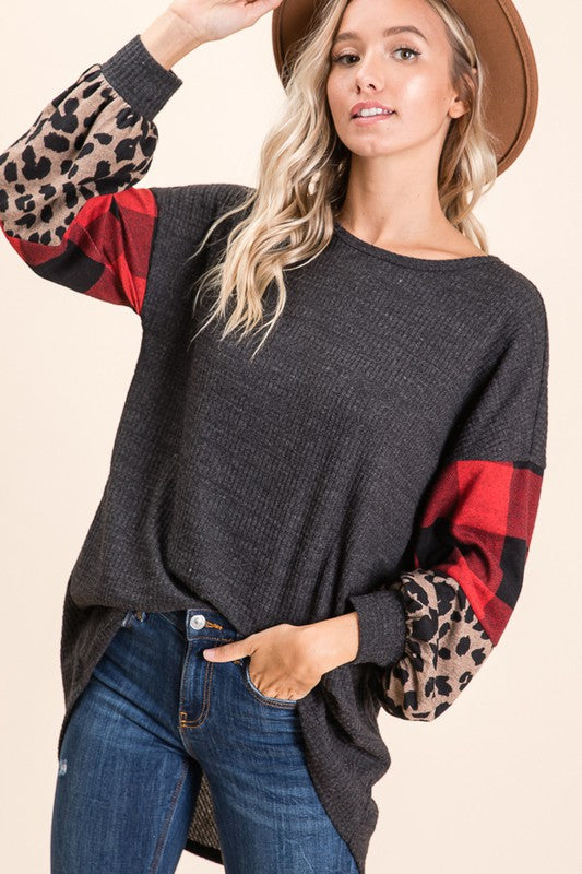 Mixed Sleeve Top