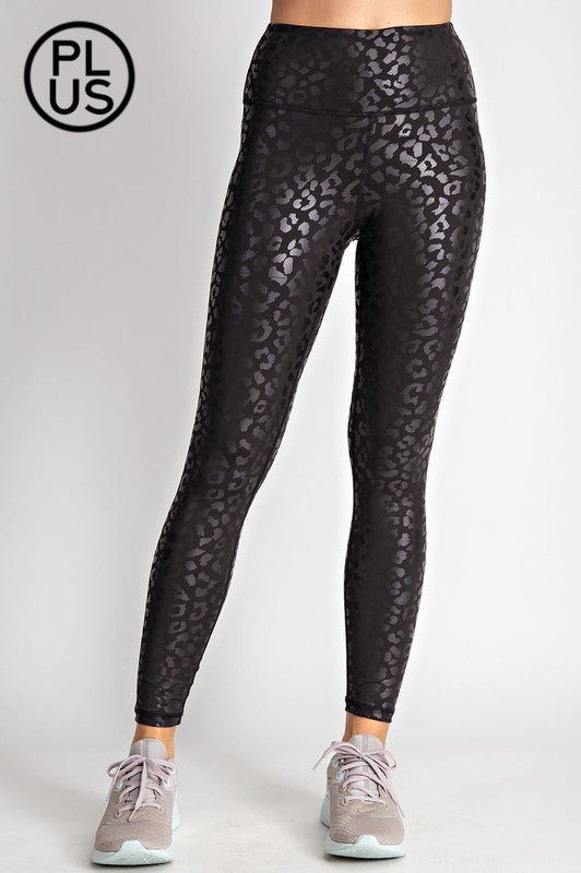 PLUS Leopard Shimmer Leggings