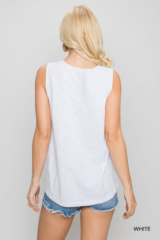 Biscayne Bay Embroidered Tank