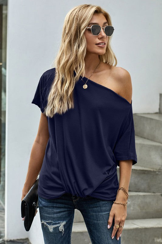 Off The Shoulder Knot Top
