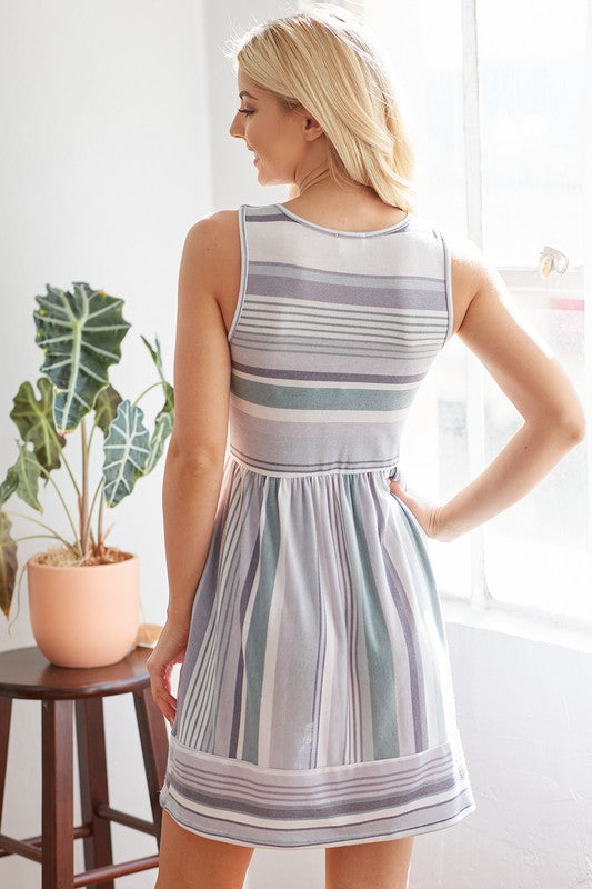 Chevron Sage Dress