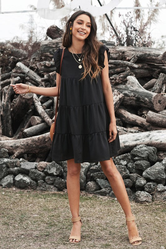 Black Tiered Dress