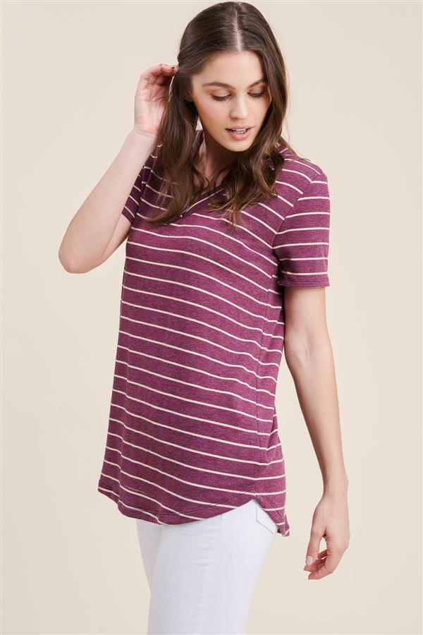Plum Stripe T-Shirts