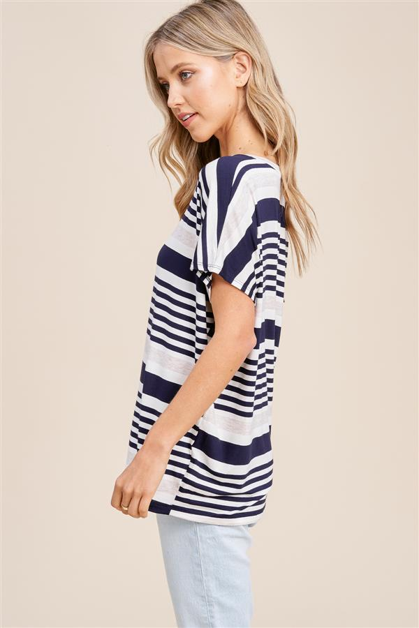 Navy Stripe Top