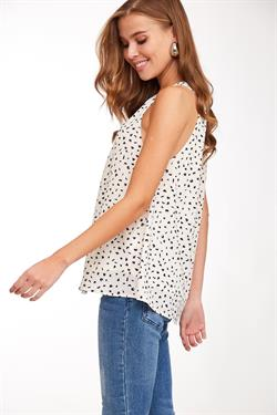 Pleated Halter with Dots, 2 Colors