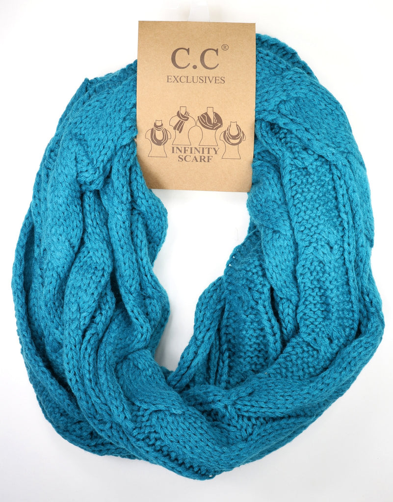 CC Cable Knit Infinity Scarf, More Colors