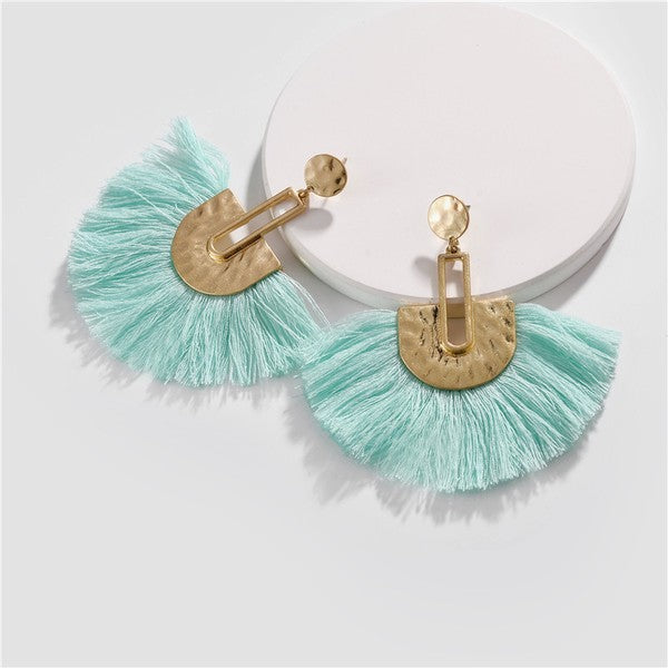 Fan Tassel Earrings - 2 colors