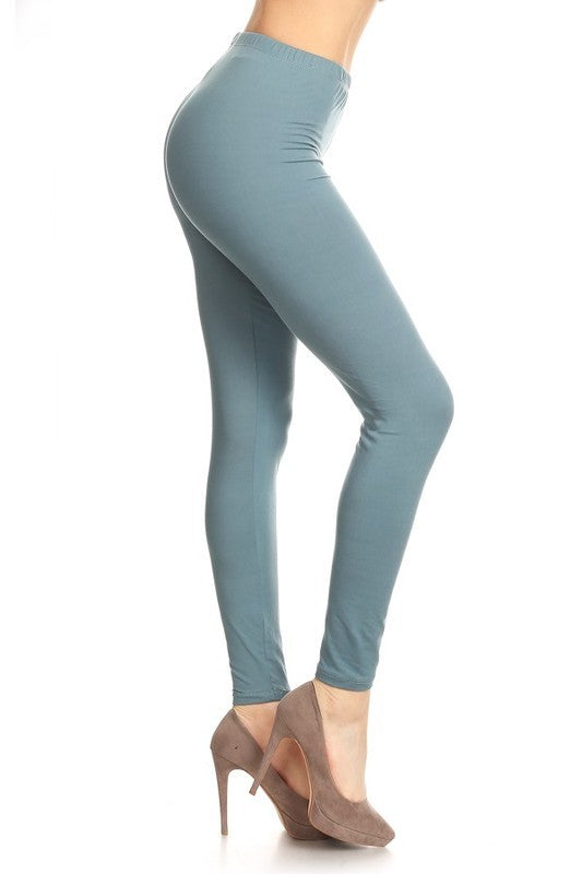 Butter Soft Leggings, Solids, Many Colors