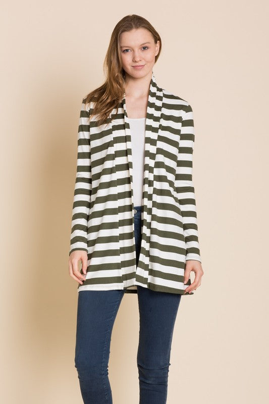 Stripe Cardigan, Plus Only