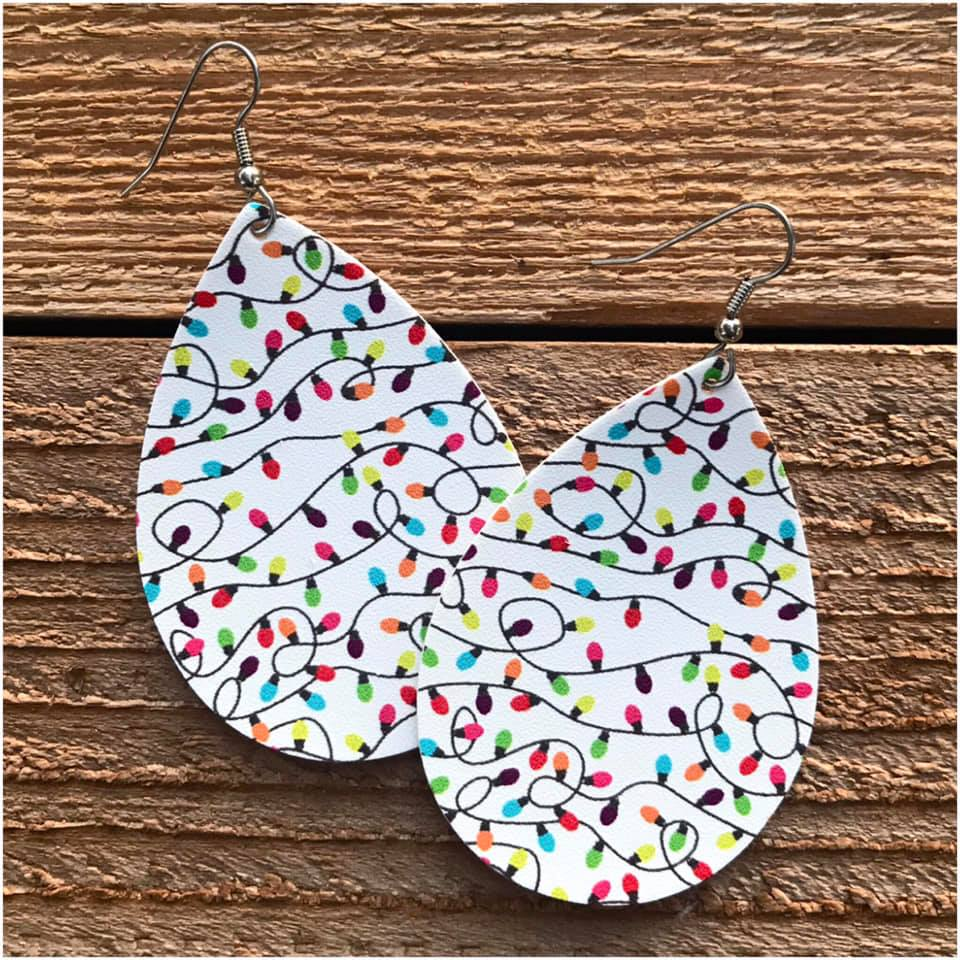 Holiday Earrings - Teardrop Shape