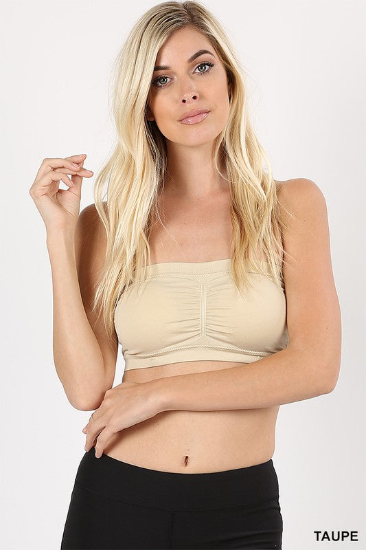 Basic Built-in-Bra Bandeau, Padded
