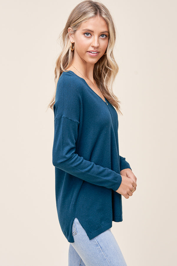 Cozy Seamfront Sweaters, 3 Colors