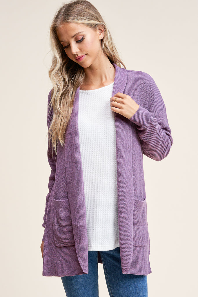 Mini-Ribbed Cardigans, 2 Colors