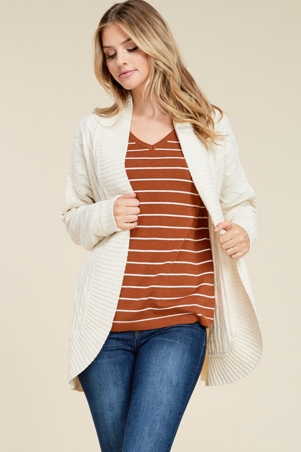 Cable Knit Cardigans, 2 Colors