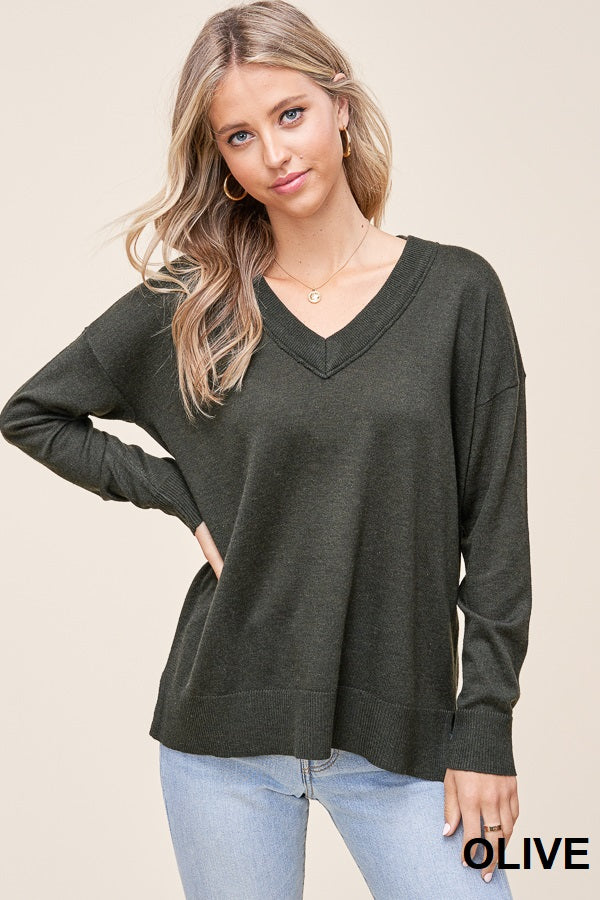 V Neck Classic Sweater
