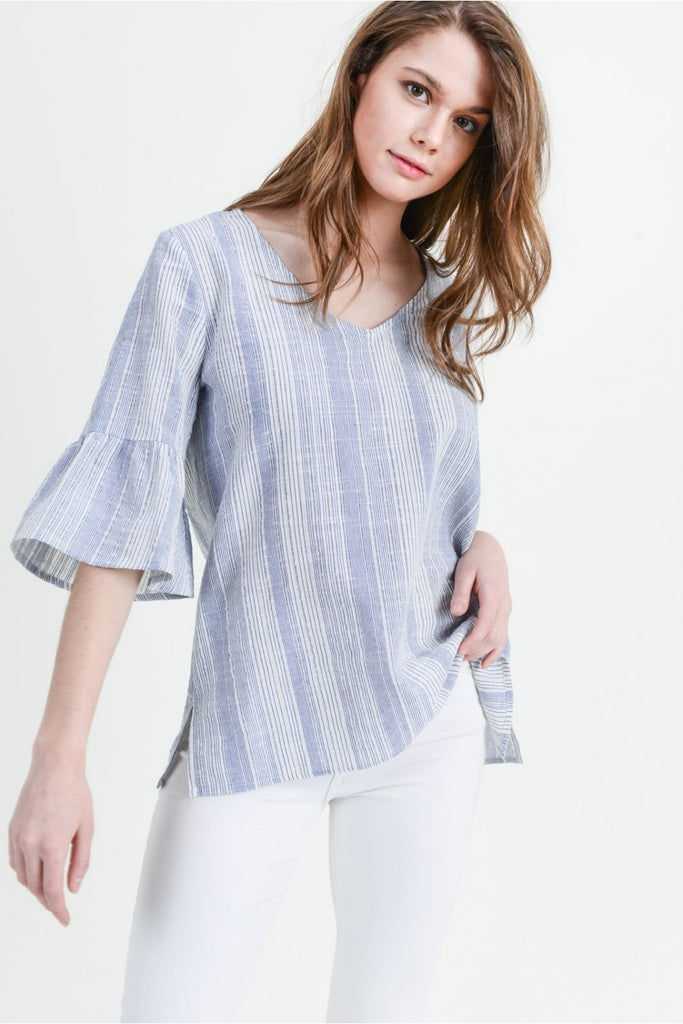 Summertime Sea Blue Blouse