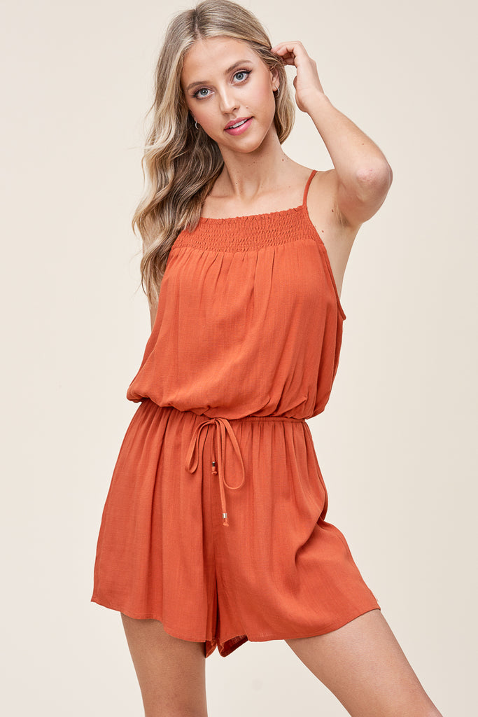 Smocked Romper, 2 Colors